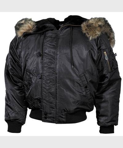 """Куртка """"аляска"""" №2В, черная, с капюшоном , новая, пр-ль """"Max Fuchs AG"""""""