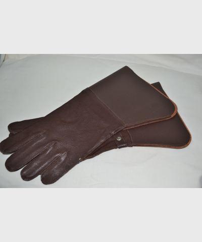 Рукавицы SK, кожа, коричневые, новые