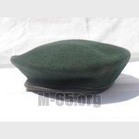 Берет AU, зеленый, черный, фетровый, б/у