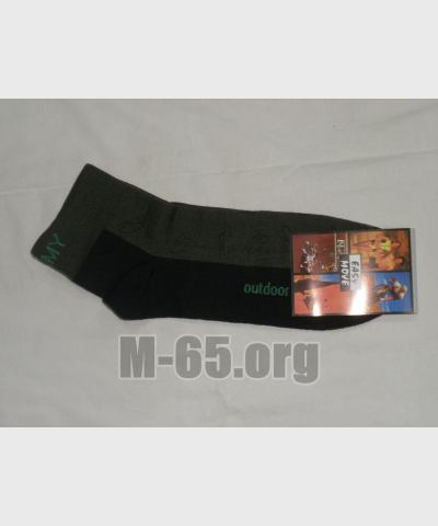 Носки CZ, серо-зеленые, низкие, на пятке надпись ARMY, новые