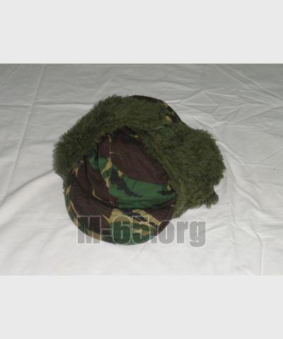 Кепка GB, зимняя, woodland, ушанка, с мехом, очень теплая, б/у
