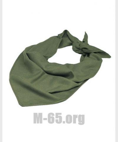 Платок BW , на шею или голову, серо-зелёный, б/у