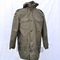 Куртка BW, полевая, хаки, тёплая, удлиненная, каапюшон, б/у