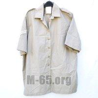 Рубашка GB, бежевая с погонами,б/у