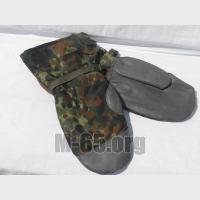 Рукавицы BW, перчатки, боевые, зеленый горошек, теплые, зимние, б/у