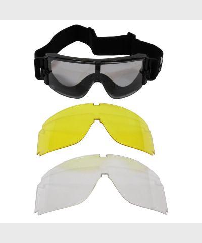 """Защитные очки """"Thunder"""" (""""гром"""") черные, 2 фильтра, пр-ль """"MFH"""""""