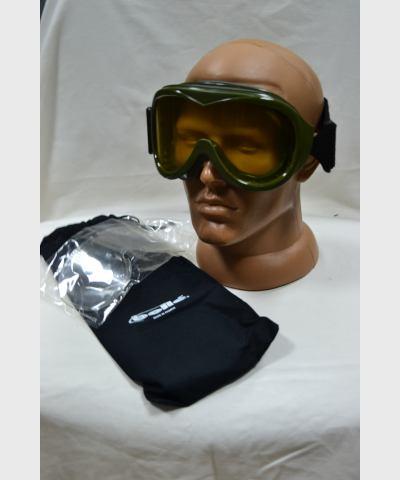Очки-маска FR, для мотоциклистов, хаки, запасные фильтры, чехол, Royal Plastic, 01100 OYONNAX, новые