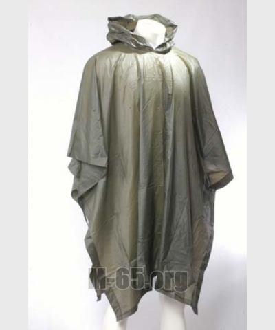 Пончо AU, лёгкий непромокаемый синтетический материал, хаки,б/у