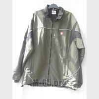 Куртка AU, спортивная, плащевка, молния, комбинация хаки,черная,б/у