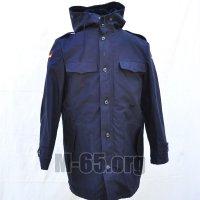 Куртка BW, морская, зимняя, капюшон, тёмно-синяя, вставка, флаг,б/у
