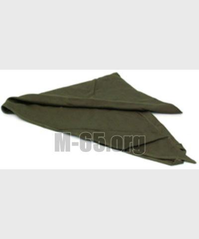 Платок  нашейный IT, боевой, треугольный зелёный, б/у