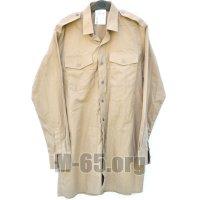 Рубашка GB, бежевая, эмблема на рукаве,б/у