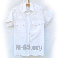 Рубашка GB, белая, погоны, короткий рукав,б/у