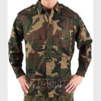 Рубашка HR, камуфляж, woodland, простой крой, хлопок, б/у