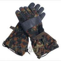Перчатки BW, боевые, лёгкие, комбинация ткани и чёрной  кожи,  б/у