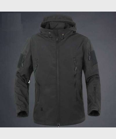 Куртка Soft Shell, весна-осень, черная, новая
